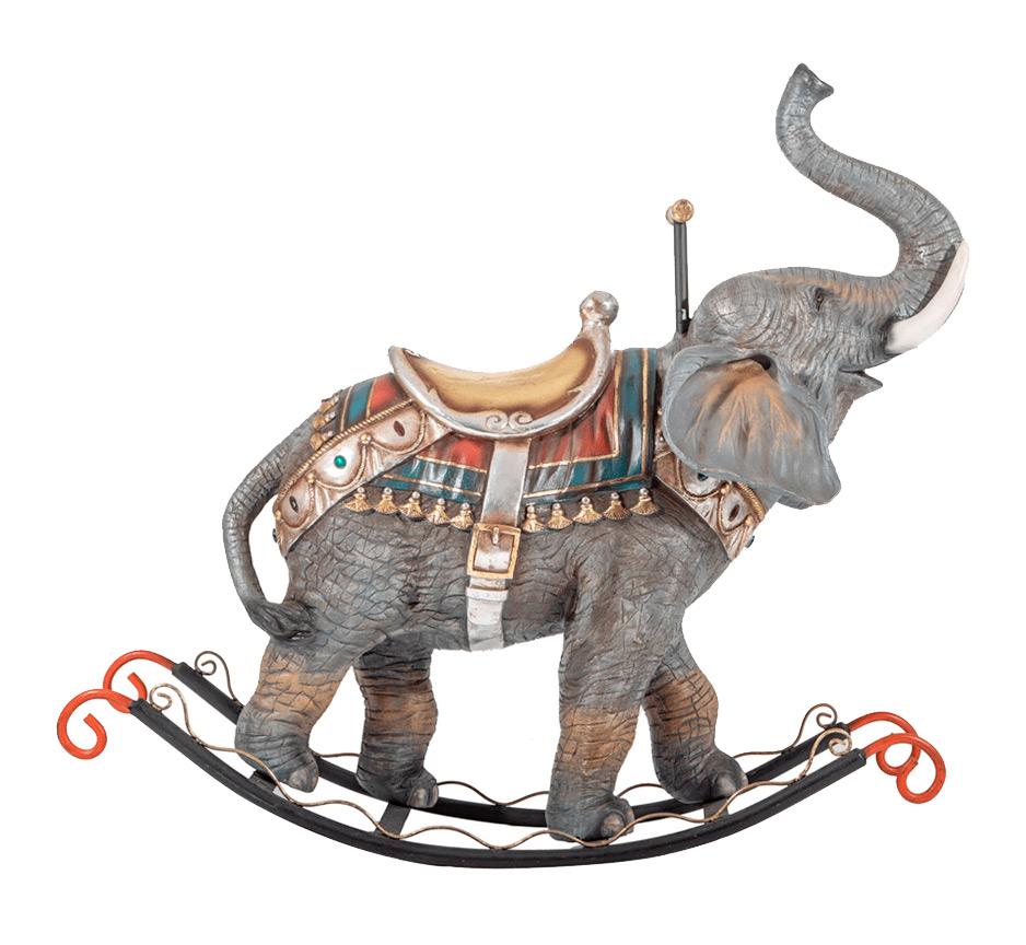 Large-Scale Bejewelled Elephant Rocker