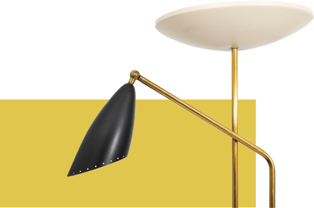 Pair of nineteen-fifties standard lamps